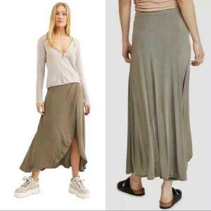 🆕 Free People Smoke & Mirrors Faux Wrap Skirt